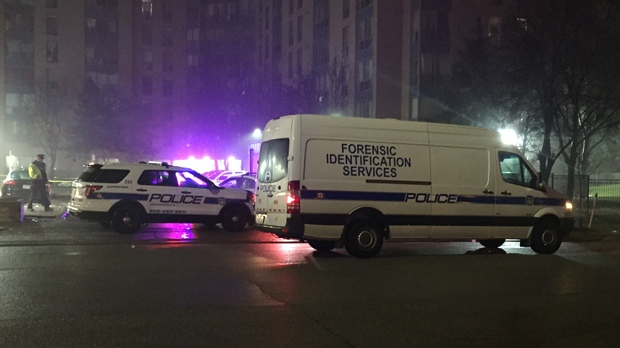 Police are investigating a shooting in Mississauga early this morning. (Mike Nguyen/ CP24)