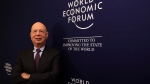 Klaus Schwab, founder and Executive Chairman of the World Economic Forum, poses for a photo during an interview by the Associated Press on the eve of the World Economic Forum, WEF, in Davos, Switzerland, Monday, Jan. 22, 2018. The meeting brings together entrepreneurs, scientists, chief executives and political leaders from Jan. 23 to 26. (AP Photo/Markus Schreiber)