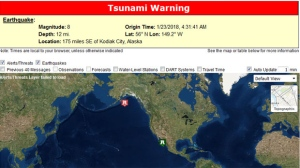 A tsunami warning has been issued for coastal B.C. and parts of Alaska after a magnitude 8.2 earthquake. (U.S. Tsunami Warning System)