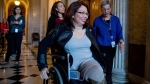 Sen.-elect Tammy Duckworth, D-Ill. arrives for a closed-door Democratic policy luncheon on Capitol Hill in Washington, Wednesday, Nov. 16, 2016. (AP Photo/Andrew Harnik)