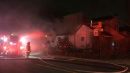 Police are investigating the cause of a fire in the city's east end. (Mike Nguyen/ CP24)