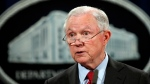 FILE - In this Dec. 15, 2017, file photo, United States Attorney General Jeff Sessions speaks during a news conference at the Justice Department in Washington. Justice Department spokesman Ian Prior said Tuesday that Sessions has been interviewed in special counsel Robert Mueller's Russia investigation. (AP Photo/Carolyn Kaster, File)