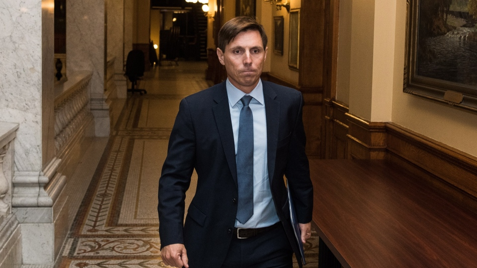 "Ontario Progressive Conservative Leader Patrick Brown leaves Queen's Park after a press conference in Toronto on Wednesday, January 24, 2018. Ontario Progressive Conservative Leader Patrick Brown says he ""categorically'' denies ""troubling allegations'' about his conduct. A visibly emotional Brown said he was made aware of the allegations earlier on Wednesday, but he did not provide details on what those allegations are. THE CANADIAN PRESS/Aaron Vincent Elkaim"