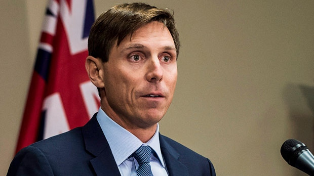"Ontario Progressive Conservative Leader Patrick Brown speaks at a press conference at Queen's Park in Toronto on Wednesday, January 24, 2018. Ontario Progressive Conservative Leader Patrick Brown says he ""categorically'' denies ""troubling allegations'' about his conduct. A visibly emotional Brown said he was made aware of the allegations earlier on Wednesday, but he did not provide details on what those allegations are. THE CANADIAN PRESS/Aaron Vincent Elkaim"