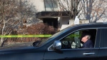 Private investigator Martin Woodhouse is seen outside the Toronto house of Barry and Honey Sherman on Friday, January 26, 2018. Billionaire generic drug tycoon Barry Sherman and his wife Honey were victims of a targeted double killing but no suspects have been identified, Toronto police said on Friday. THE CANADIAN PRESS/Chris Young