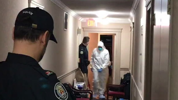 Forensic officers continue to process accused serial killer Bruce McArthur's apartment.