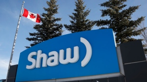 A Shaw Communications sign at the company's headquarters in Calgary on January 14, 2015. THE CANADIAN PRESS/Jeff McIntosh