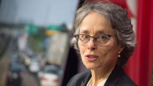 Environmental Commissioner of Ontario Dianne Saxe releases a report at the Ontario Legislature, in Toronto on Tuesday, January 30, 2018. The report examined how Ontario was meeting it's environmental targets. THE CANADIAN PRESS/Frank Gunn