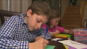 Maple twins Tamara and Jeremy Cohn write cards to other kids who need a boost.