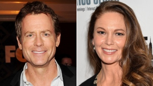 "This combination photo shows Greg Kinnear, left, and Diane Lane, who will star as siblings in the final season of ""House of Cards,"" on Netflix. (AP Photo/Files)"