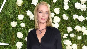 "In this June 11, 2017 file photo, Uma Thurman arrives at the 71st annual Tony Awards in New York. Thurman makes her Broadway debut in ""The Parisian Woman,"" opening Nov. 30 at the Hudson Theatre. (Photo by Evan Agostini/Invision/AP, File)"