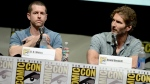 "D.B. Weiss, left, and David Benioff participate in the ""Game of Thrones"" panel on Day 3 of 2013 Comic-Con International on Friday, July 19, 2103, in San Diego. (Photo by Jordan Strauss/Invision/AP)"