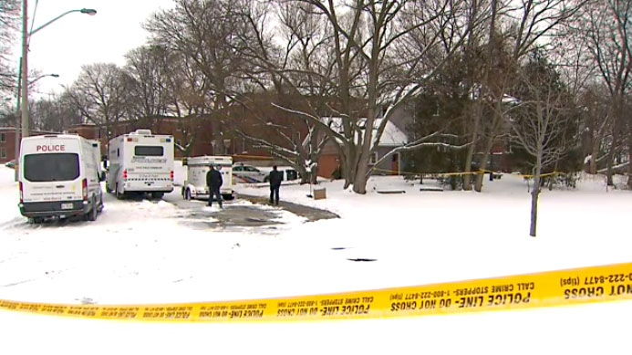 Forensic investigators at the Mallory Crescent home in Toronto's Leaside neighbourhood where crews will begin digging for evidence in the Bruce McArthur case on Feb. 9, 2018.