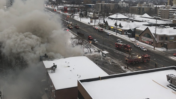 Explosion levels multiple businesses at Mississauga plaza
