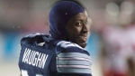 Toronto Argonauts defensive back Cassius Vaughn (26) smiles after scoring a touchdown against the Calgary Stampeders during second half CFL football action in the 105th Grey Cup on Sunday, November 26, 2017 in Ottawa. THE CANADIAN PRESS/Ryan Remiorz
