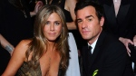 In this Jan. 25, 2015 file photo, Jennifer Aniston, left, and Justin Theroux pose in the audience at the 21st annual Screen Actors Guild Awards in Los Angeles. The couple announced Thursday, Feb. 15, 2018, that they have separated. (Photo by Vince Bucci/Invision/AP, File)