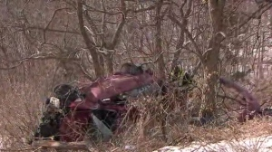 Police are searching for the driver of a vehicle involved in a crash in Scarborough on Sunday morning.