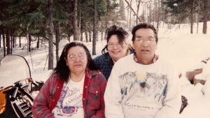 Ina Matawapit, centre, with her parents Edward and Madeline Matawapit, are seen in an undated handout photo. An inquest probing the circumstances surrounding the 2012 death of an Ontario Indigenous woman is recommending stricter protocols for handling intoxicated patients. Jurors at the inquest heard that Ina Matawapit died in police custody after being turned away from the nursing station in her home community of North Caribou Lake First Nation in northwestern Ontario. THE CANADIAN PRESS/HO - Aboriginal Legal Services,