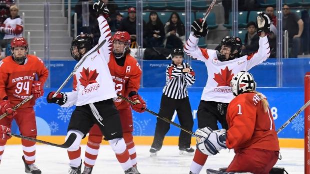 Canada women beat Russia 5-0, will meet US in hockey final