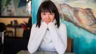 Jennifer Podemski poses for a portrait at Black Rock Coffee in Toronto, Monday, Feb. 12, 2018. About 20 years ago, Toronto-born screen star Jennifer Podemski was growing frustrated with a lack of work for Indigenous actors and storytellers such as herself and took matters into her own hands by becoming a producer. THE CANADIAN PRESS/Marta Iwanek