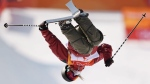 Cassie Sharpe of Canada competes in the women's halfpipe skiing final at the Phoenix Snow Park at the 2018 Winter Olympic Games in Pyeongchang, South Korea, Tuesday, Feb. 20, 2018. THE CANADIAN PRESS/Jonathan Hayward