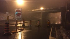 Bayview Avenue, flooding, closed
