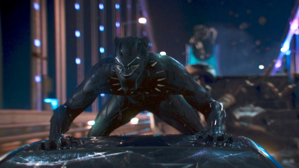 This image released by Disney shows a scene from Marvel Studios' 'Black Panther.' (Matt Kennedy/Marvel Studios-Disney via AP)
