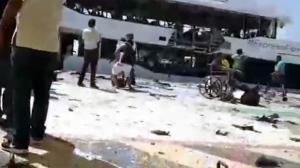 At least 25 people have been injured after an explosion ripped through a ferry as it unloaded passengers in the Caribbean beach city of Playa del Carmen on Wednesday.