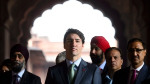 Prime Minister Justin Trudeau visits the Jama Masjid Mosque in New Delhi, India on Thursday, Feb. 22, 2018. THE CANADIAN PRESS/Sean Kilpatrick