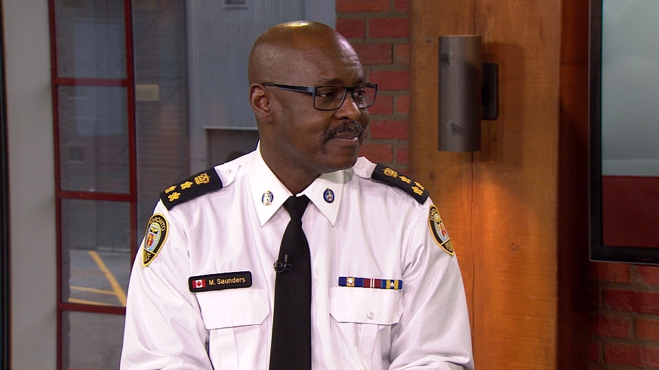 Police Chief Mark Saunders speaks with CP24 on Friday.