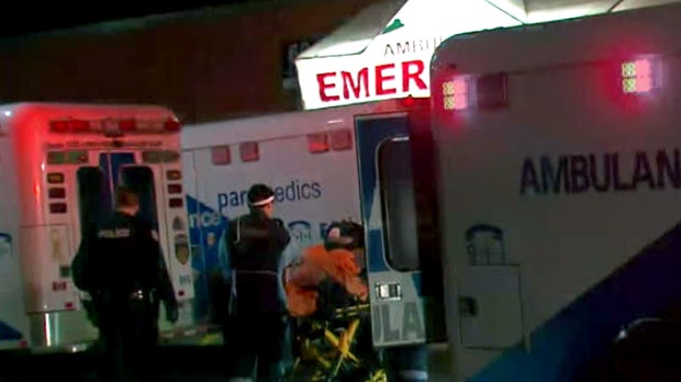 A man was sent to a trauma centre with life-threatening injuries after a shooting in Rexdale.