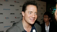 Actor Brendan Fraser arrives at a movie preview at the start of an inaugural four-day 3D festival on Wednesday, Nov. 19, 2008 in Singapore. (AP Photo/ Wong Maye-E)