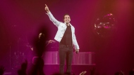 Jacob Hoggard, frontman for the rock group Hedley, performs during the band's concert in Halifax on Friday, February 23, 2018. THE CANADIAN PRESS/Darren Calabrese