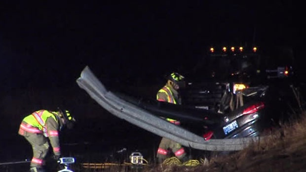 One person has died following a crash on Highway 400 near Bradford.