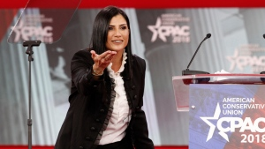 In this Feb. 22, 2018, photo, Dana Loesch, spokeswoman for the National Rifle Association, speaks at the Conservative Political Action Conference (CPAC), at National Harbor, Md.  (AP Photo/Jacquelyn Martin)