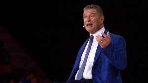 Rick Hansen speaks at the Invictus Games Opening Ceremony in Toronto on Saturday, September 23, 2017. THE CANADIAN PRESS/Chris Donovan