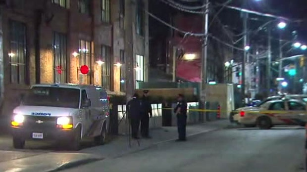 One person was taken to hospital after a shooting in the downtown core on Monday morning.
