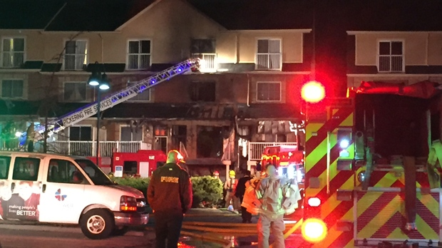 suspicious fire displaces several residents at pickering