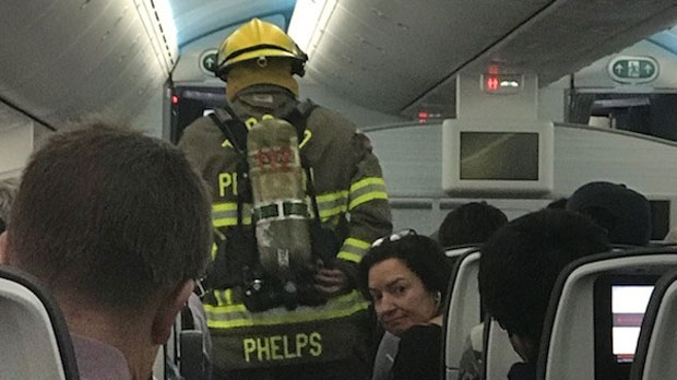 Cellphone catches fire, delays takeoff of Vancouver-bound flight