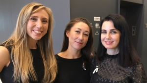 AfterMeToo founders Freya Ravensbergen, Aisling Chin-Yee and Mia Kirshner (left to right) are shown in a handout photo. A Canadian group aimed at improving culture, legislation and policies surrounding sexual misconduct in the screen industry has released a report of nine recommendations. THE CANADIAN PRESS/HO