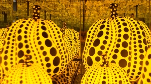 "A section of Yayoi Kusama's ""All the Eternal Love I Have for the Pumpkins, 2016,"" is seen in the Art Gallery of Ontario's exhibition, ""Yayoi Kusama: Infinity Mirrors,"" in Toronto on Tuesday, February 27, 2018. THE CANADIAN PRESS/Chris Young"
