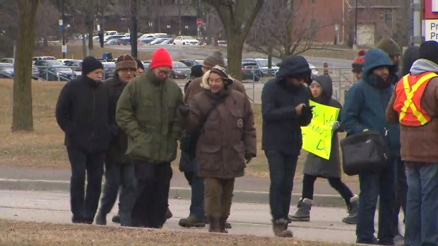 Carleton University's staff on the picket lines in defense of pensions