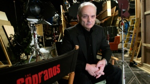"In this March 3, 2006 file photo, David Chase, creator and producer of the hit HBO series ""The Sopranos,"" poses on a set in the Queens borough of New York. Warner Bros. (AP Photo/Diane Bondareff, File)"