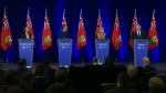 The four candidates for the Ontario PC leadership are seen at a debate in Ottawa on Feb. 28. (CP24)