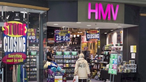 An HMV outlet is seen at the Mic Mac Mall in Dartmouth, N.S. on Friday, Feb. 24, 2017. THE CANADIAN PRESS/Andrew Vaughan