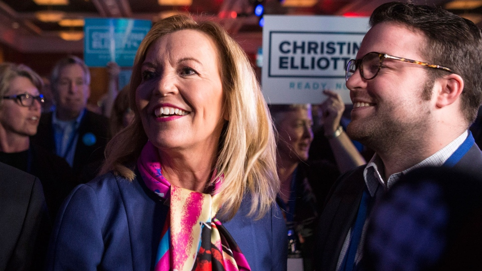 Candidate Christine Elliott attends the Ontario Progressive Conservative Leadership announcement in Markham, Ont. on Saturday, March 10, 2018. THE CANADIAN PRESS/Chris Young