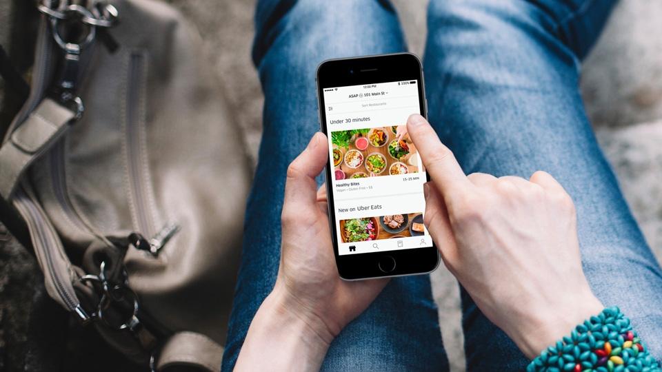 The Uber Eats app (Uber Eats)
