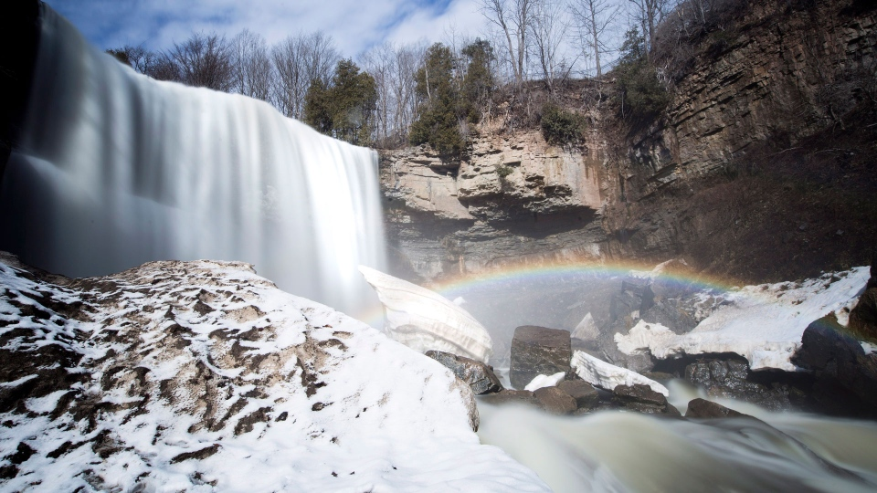 "Webster Falls Hamilton, Ontario on Friday, March 2, 2018. Although Hamilton has long been known as Canada's ""steel city"" because it's home to a large manufacturing industry, natural attractions are becoming part of its revamped image.THE CANADIAN PRESS/Peter Power"
