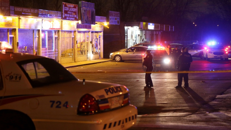 One man suffered serious injuries after a stabbing in Scarborough Village early this morning. (John Hanley/ CP24)