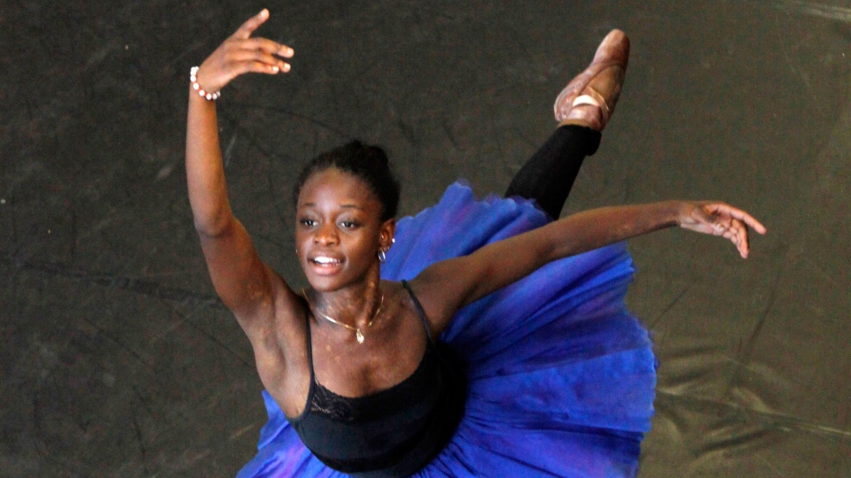 In this July 10, 2012 file photo, dancer Michaela DePrince rehearses for her lead role in Le Corsaire in Johannesburg. (AP Photo Denis Farrell, File)